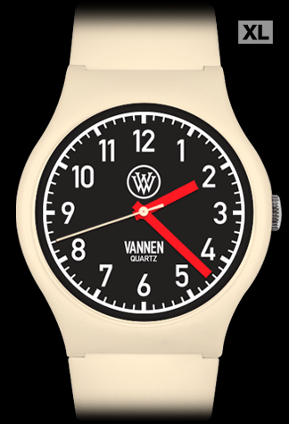 Matte Beige Limited Edition Vannen Quartz Watch Prototype