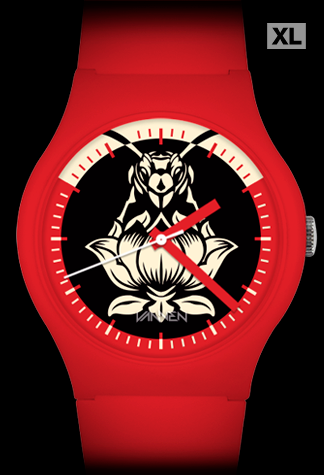 Limited edition Blondie Pollinator Red Variant Vannen Artist Watch