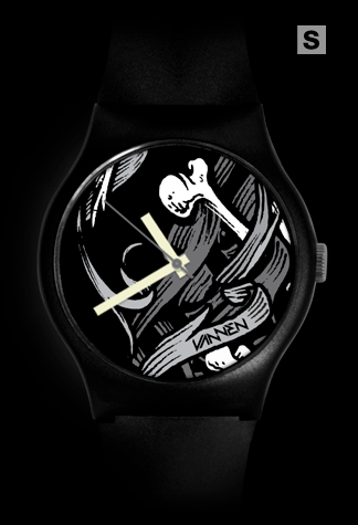 Super-limited edition Brian Morris 'Time Waits For No Man' black variant Vannen Artist Watch.