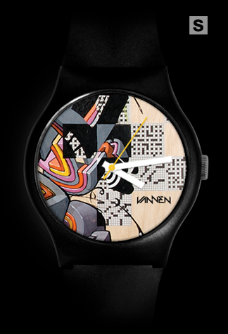 Super-limited edition Damon Soule 'Square Takes Circle' black variant Vannen Artist Watch