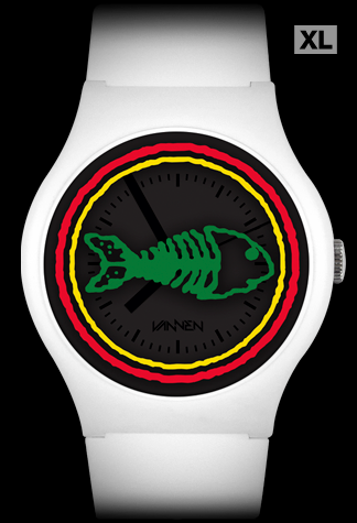 Limited edition FISHBONE white variant Vannen Artist Watch