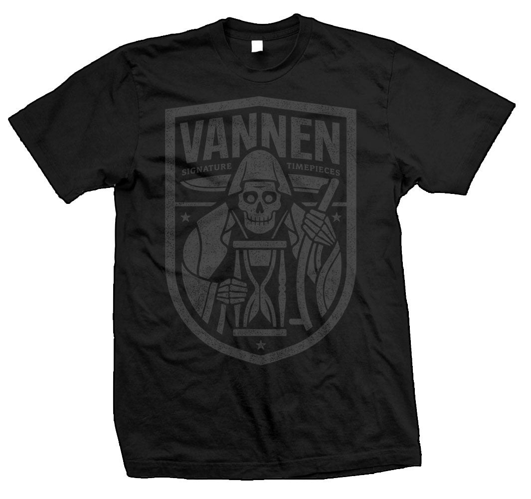 Limited edition Vannen Watches Black & Grey Reaper T-Shirt