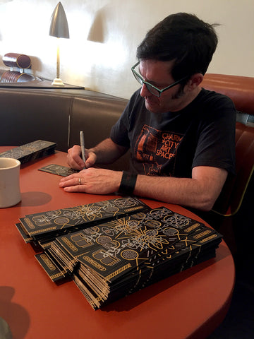 Joey Cape signing Lagwagon's Vannen Artist Watch Packaging