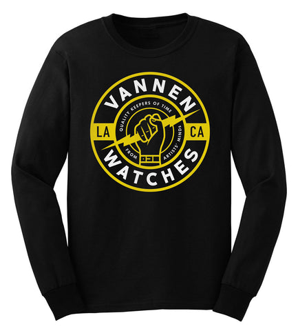 "Vannen Watches White & Yellow Long Sleeve ""Keeper"" T-shirt"