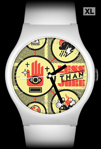 "Limited edition Less Than Jake ""Sound The Alarm"" (White) Vannen Artist Watch"