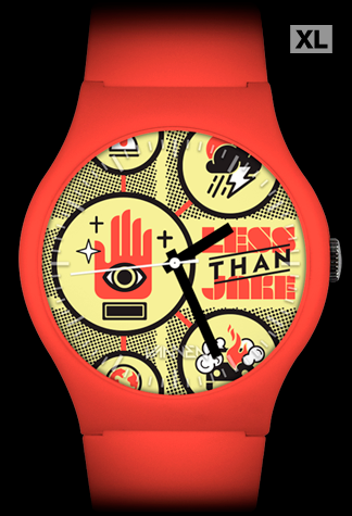 Limited Edition Less Than Jake red Sound the Alarm Vannen Watch