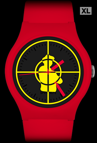 Limited Edition Public Enemy Red Alert Vannen Artist Watch
