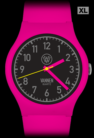 Matte Pink Limited Edition Vannen Quartz Watch Prototype