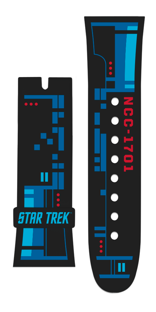"Vannen x Star Trek ""USS Enterprise"" matte black strap set"