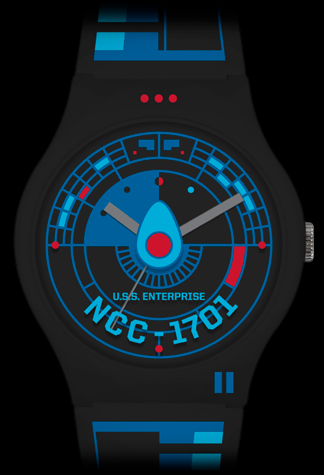 Vannen x Star Trek matte black variant artist watch by Tom Whalen