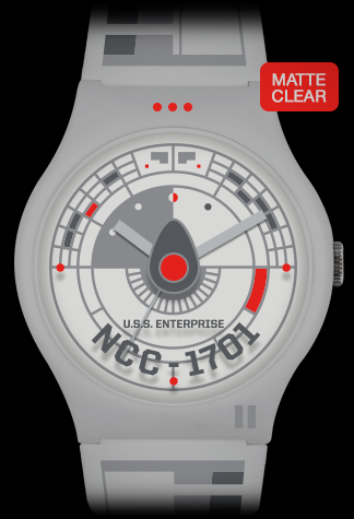 Vannen x Star Trek matte clear variant artist watch by Tom Whalen