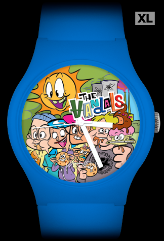 "The Vandals limited edition ""Anarchy Burger"" blue Vannen Artist Watch"