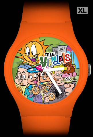 "The Vandals limited edition ""Anarchy Burger"" orange Vannen Artist Watch"