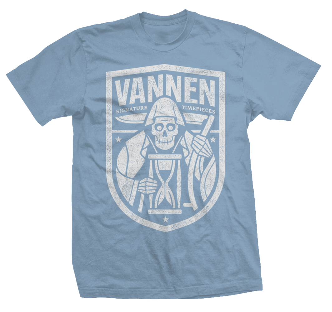 Vannen Artist Watches Sky Blue Heather 'Reaper' T-Shirt