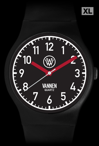 Matte Black Limited Edition Vannen Quartz Watch Prototype