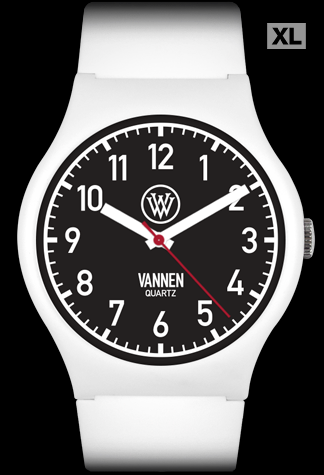 Matte White Limited Edition Vannen Quartz Watch Prototype