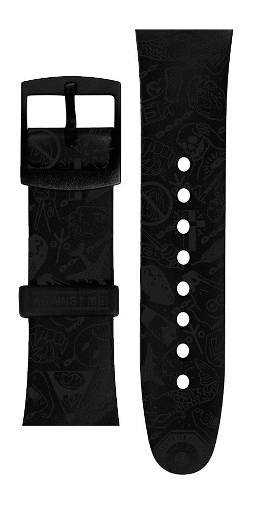 Limited edition Against Me! Vannen Artist Watches Blackout Strap Set