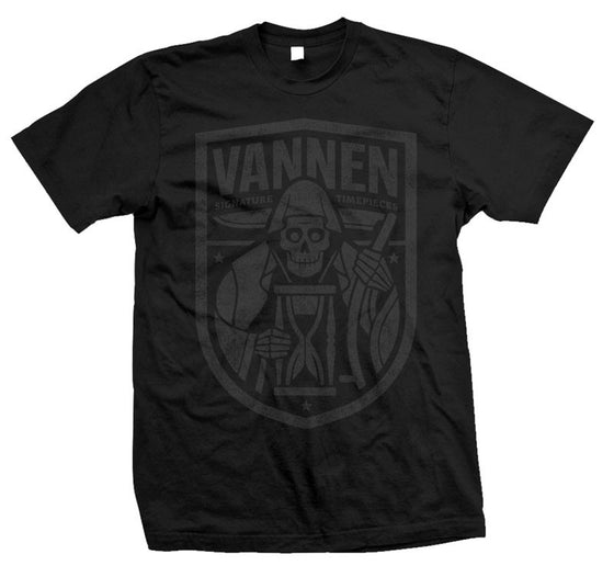 Vannen Artist Watches Black on Black American Apparel Reaper T-shirt