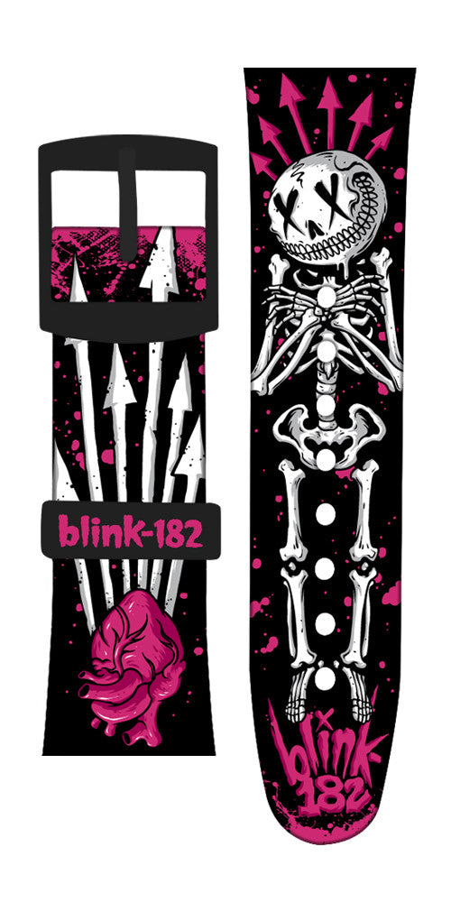 Limited Edition Blink-182 Vannen Artist Watches Smiling Bones Strap Set