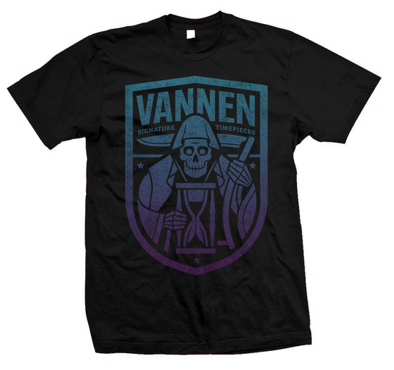Vannen Watches Blue & Purple Gradient Reaper Black T-Shirt