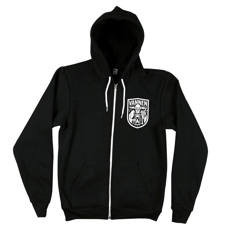 Vannen Watches Unisex Black and White Reaper Hoodie