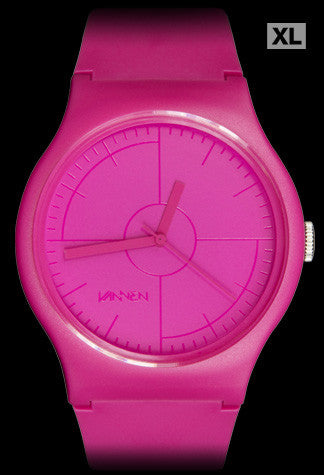 Limited edition CMYK Series Magenta Watch from Vannen Artist Watches