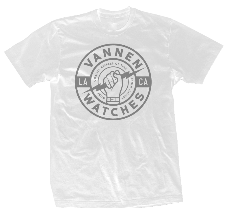 "Vannen Watches White and Grey ""Keeper"" T-Shirt"