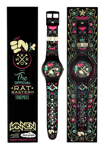 Limited Edition KRONK Rat Basterd Vannen Artist Watch