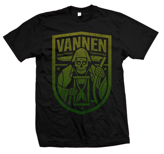 Vannen Watches Yellow & Green Gradient Reaper Black T-Shirt
