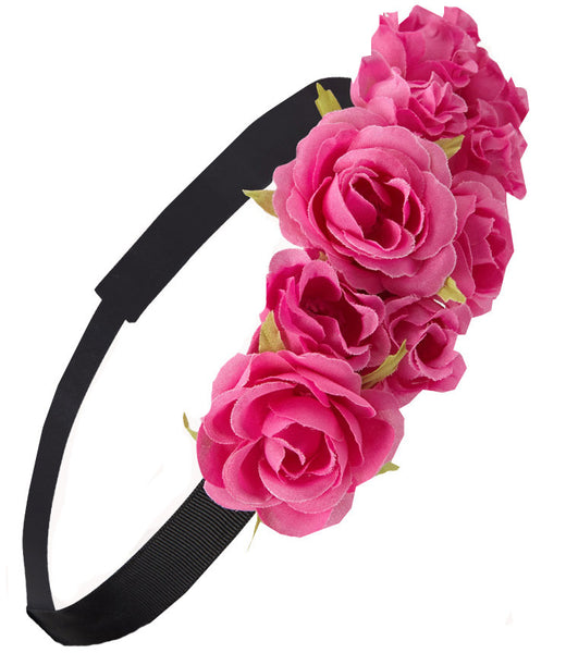 Floral Rouge Crown Headband