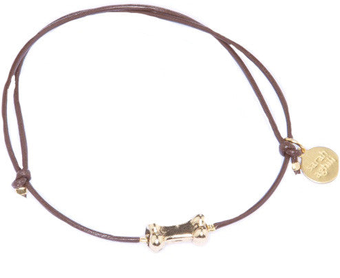 Leather Cord Bone Bracelet