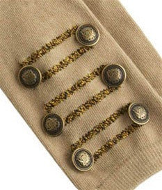 Camel Military Knee Socks