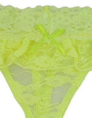 Fluorescent Lace Thong