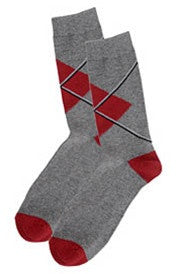 Red Arglye Socks