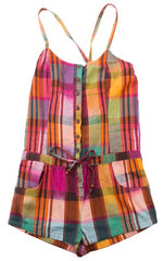 Plaid-Love Romper