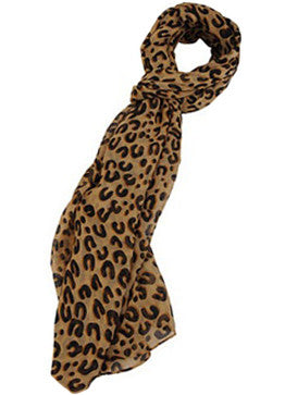Semi-Sheer Leopard Scarf