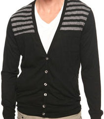 Striped Charcoal Cardigan