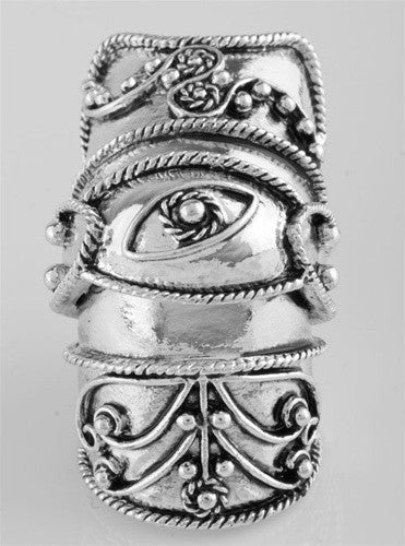 Evil Eye Knuckle Ring