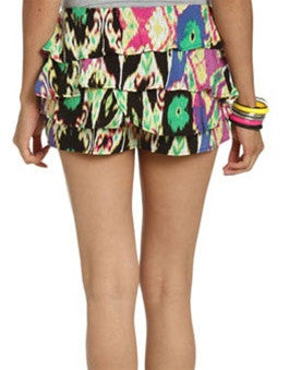 Tribal Splatter Skort