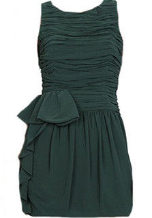 Emerald Chiffon Dress