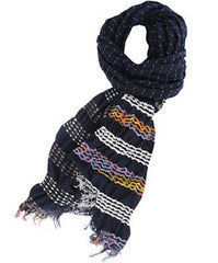 Stiched Ethnic Stripe Scarf
