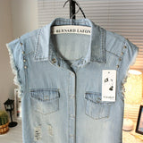 Skull Rock Denim Vest