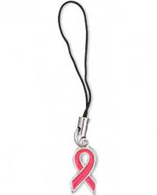 Breast Cancer Cell Phone Charm
