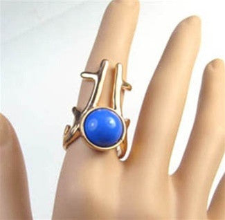 Gemstone Antler Ring