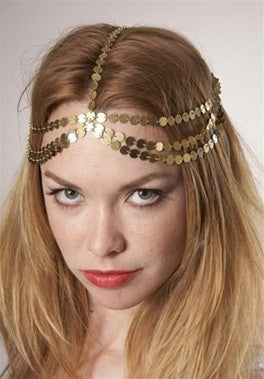 Seven-Strand Coin Head Piece