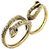Double Snake Wrap Ring