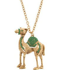 Jeweled Camel Necklace