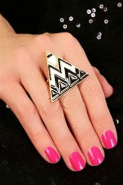 Zig Zag Triangle Ring