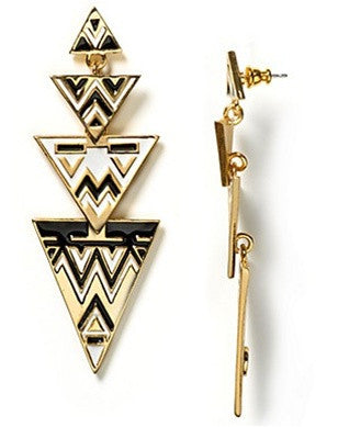 Contrast Ziggy Earrings