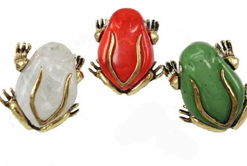 Gemstone Frog Ring